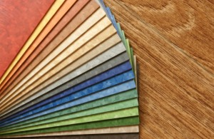 Picture of vinyl flooring samples